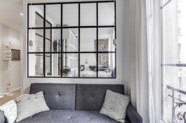 verrières d'intérieur en acier séparation salon chambre
