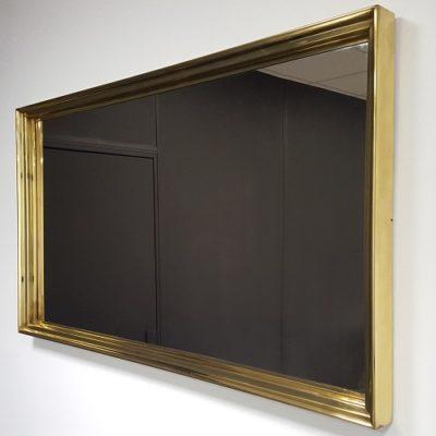 2-encadrement miroir en laiton