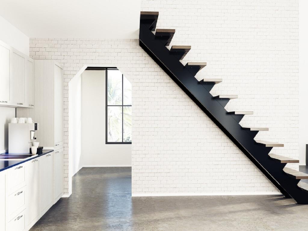 escalier métal droit intérieur pour maison et appartement