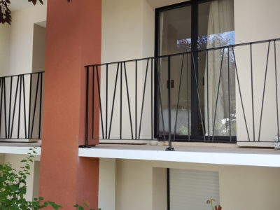 garde corps métal extérieur terrasse