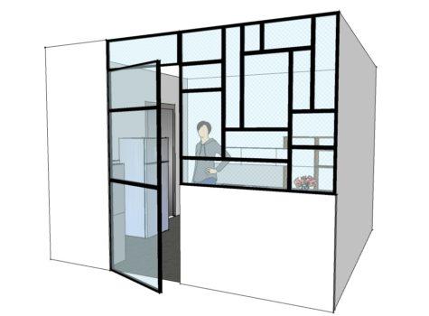 Plan 3D Verrière intérieure