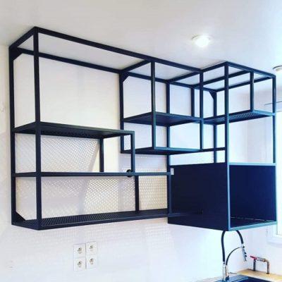 1-meuble cuisine acier